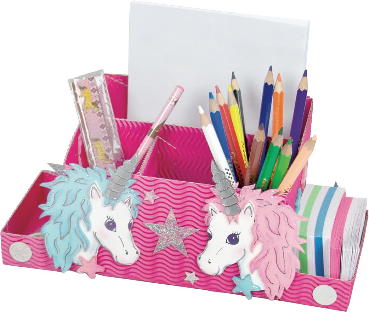 Trend Creativ Schreibtischbox Bastelset Einhörner
