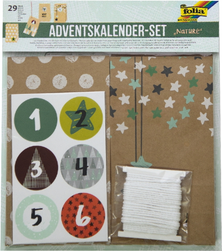adventskalender bastelset papiert ten nature trend creativ. Black Bedroom Furniture Sets. Home Design Ideas