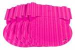 Laternenrohling rund 3D Welle pink